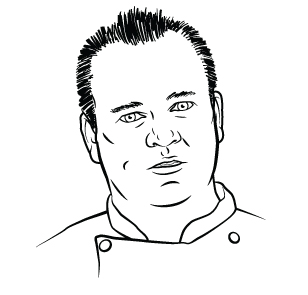 drawing of Chef John Byrne