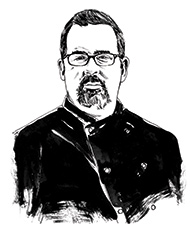 drawing of Chef Rob Johnson