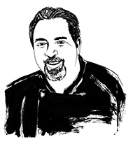 drawing of Chef Perry Canestraro