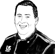 drawing of Chef Chris Quinn