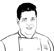 drawing of Chef Craig Peck
