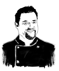 drawing of Chef Matthew Dean