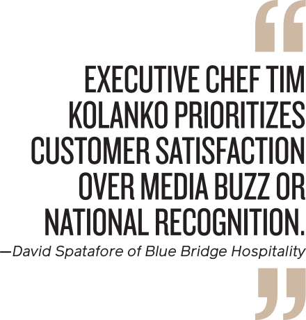 Quote from David Spatafore, Blue Ridge Hospitality