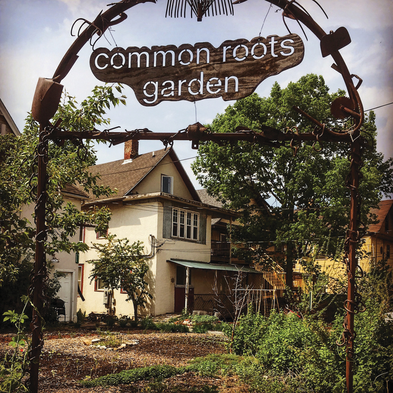 Common roots garden sign