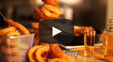 Shot and a Beer Stout Battered Onion Rings | US Foods