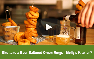 Shot & a Beer Onion Rings