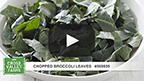 Chopped Broccoli Leaves