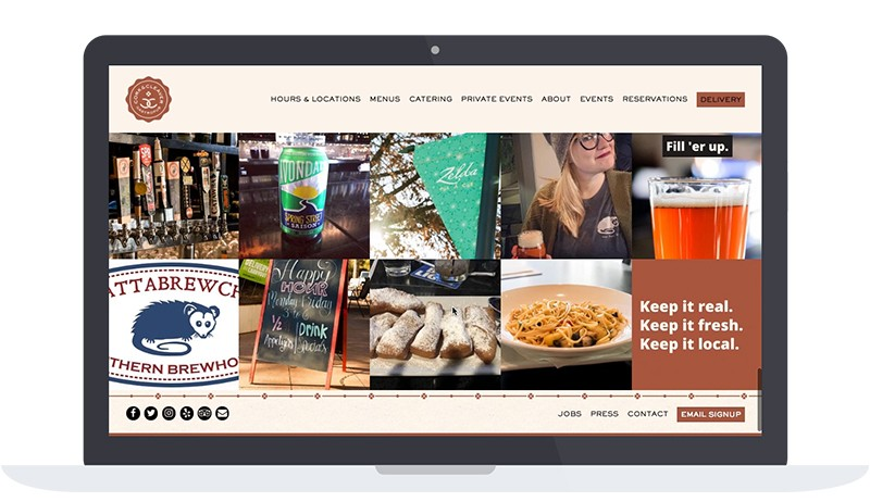 Cork and Cleaver homepage